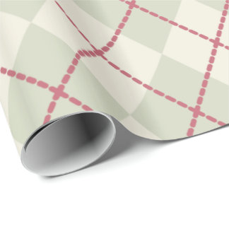 Rustic Argyle Christmas Wrapping Paper