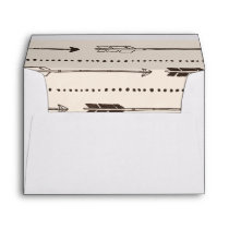 Rustic Arrow Envelopes in Brown & Cream