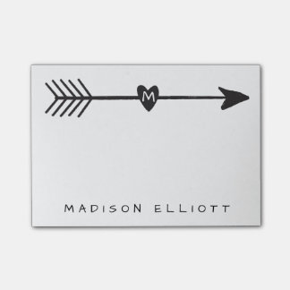 Rustic Arrow Personalized Sticky Desk Note