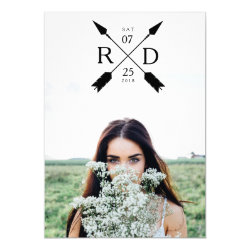 Rustic Arrow | Photo Graduation Party Invite