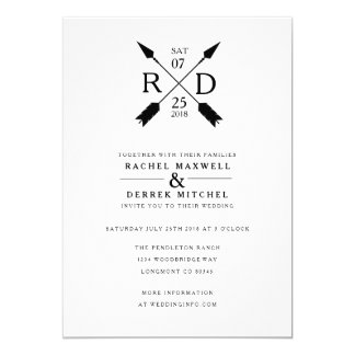Rustic Arrow | Wedding Card
