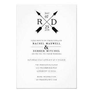 Rustic Arrow | Wedding Card