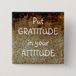 Rustic Art GRATITUDE Positive Affirmation Button