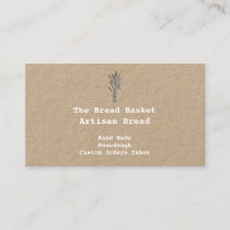 Rustic Artisan  Bakery | Bundle of Wheat Kraft Business Card