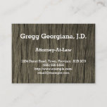[ Thumbnail: Rustic Attorney-At-Law Business Card ]