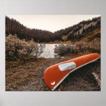 Rustic Autumn Canoe // Dusk Lit Gray