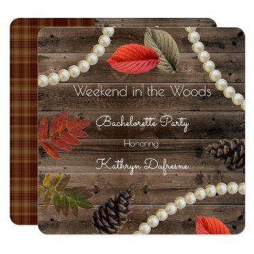 think_out_loud Rustic Autumn Elegance Bachelorette Invitation