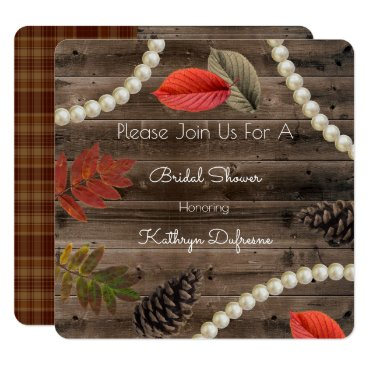 think_out_loud Rustic Autumn Elegance Bridal Shower Invitation