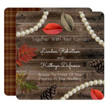 think_out_loud Rustic Autumn Elegance Wedding Invitation