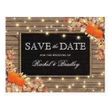 Rustic Autumn Fall Pumpkin Save the Date
