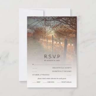 Rustic Autumn Farm Country Fall Wedding RSVP