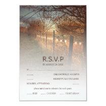 Rustic Autumn Farm Country Fall Wedding RSVP Card