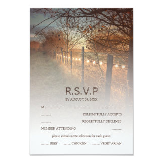Rustic Autumn Farm Country Fall Wedding RSVP Card