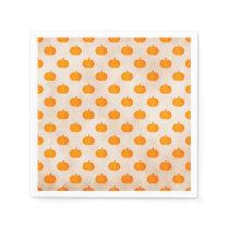 rustic autumn harvest pumpkins paper napkin