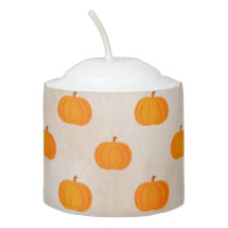 rustic autumn harvest pumpkins votive candle