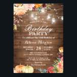"""Rustic Autumn Pumpkin Floral Birthday Party Invitation<br><div class=""""desc"""">Rustic Autumn Pumpkin Floral Birthday Party Invitation. (1) For further customization, please click the """"customize further"""" link and use our design tool to modify this template. (2) If you prefer thicker papers / Matte Finish, you may consider to choose the Matte Paper Type. (3) If you need help or matching...</div>"""