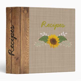 Rustic Autumn Sunflower Recipe/Photo Binder