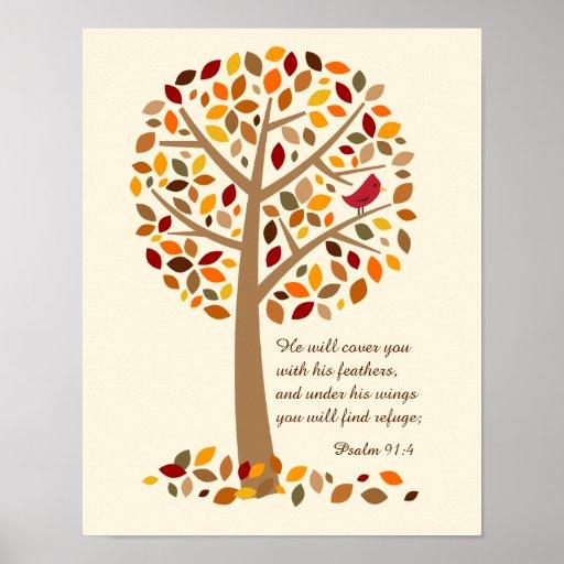 rustic autumn tree psalm 91 christian bible verse poster Fall Borders Clip Art fall season leaves clipart