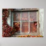 Rustic Autumn Vines Against Building Horizontal 1 Print