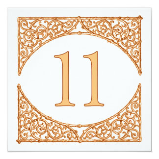 Rustic Autumn Wood Screen Table Number 11