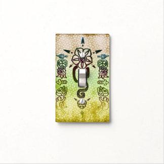 Rustic AZTEC Tribal Folk Art Light Switch Cover