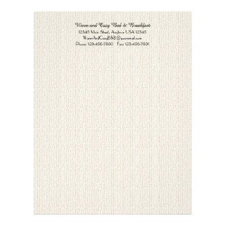 Rustic B&B Guest Information Filler Page Off White