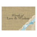 Rustic Baby Blue Shower Advice Cards Business Card