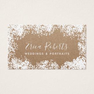 Rustic Baby Breath Wedding & Portrait Photography Business Card
