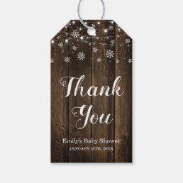 Rustic Baby It's Cold Outside Winter Baby Shower Gift Tags