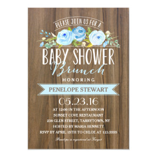 Rustic Baby Shower | Baby Shower Invitation
