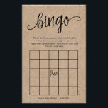 """Rustic Baby Shower Bingo, Kraft Game Card<br><div class=""""desc"""">Have some fun at your shower with this fun bingo game! The rustic kraft look with trendy brush calligraphy is a great gender neutral design and can be used along with many different shower themes.  Add your personalized text using the template form.</div>"""