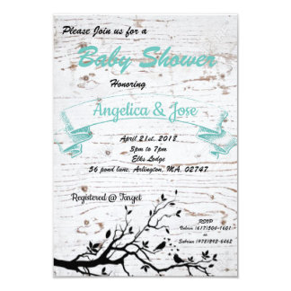 rustic baby shower card