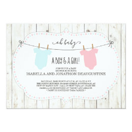 Twins baby shower invitations announcements zazzle rustic baby shower invitation for twins filmwisefo Choice Image