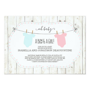 Twin Baby Girl Shower Invitations Zazzle