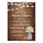 Rustic Baby&#39;s Breath Mason Jar Lights Wedding Card<br><div class='desc'>================= ABOUT THIS DESIGN ================= Rustic Baby&#39;s Breath Mason Jar Lights Wedding Invitation Template. (1) For further customization, please click the &quot;Customize it&quot; button and use our design tool to modify this template. All text style, colors, sizes can be modified to fit your needs. (2) If you prefer thicker papers,...</div>