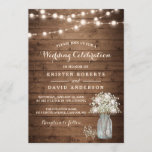 "Rustic Baby's Breath Mason Jar Lights Wedding Invitation<br><div class=""desc"">Create your perfect invitation with this pre-designed templates, you can easily personalize it to be uniquely yours. For further customization, please click the ""customize further"" link and use our easy-to-use design tool to modify this template. If you prefer Thicker papers / Matte Finish, you may consider to choose the Matte...</div>"