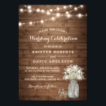 "Rustic Baby&#39;s Breath Mason Jar Lights Wedding Invitation<br><div class=""desc"">================= ABOUT THIS DESIGN ================= Rustic Baby&#39;s Breath Mason Jar Lights Wedding Invitation Template. (1) For further customization, please click the &quot;Customize it&quot; button and use our design tool to modify this template. All text style, colors, sizes can be modified to fit your needs. (2) If you prefer thicker papers,...</div>"