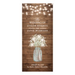 Rustic Baby&#39;s Breath Mason Jar Wedding Program<br><div class='desc'>================= ABOUT THIS DESIGN ================= Rustic Baby&#39;s Breath Mason Jar Wedding Program Card (1) For further customization, please click the &quot;Customize it&quot; button and use our design tool to modify this template. All text style, colors, sizes can be modified to fit your needs. (2) If you need help or matching...</div>