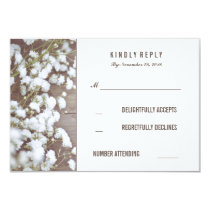 Rustic Baby's Breath Wedding RSVP Cards