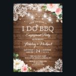 "Rustic Backyard I DO BBQ Engagement Party Invitation<br><div class=""desc"">Rustic Country Mason Jar Lights Lace Floral - I DO BBQ Engagement Party Invitation. (1) For further customization, please click the ""customize further"" link and use our design tool to modify this template. (2) If you prefer thicker papers / Matte Finish, you may consider to choose the Matte Paper Type....</div>"