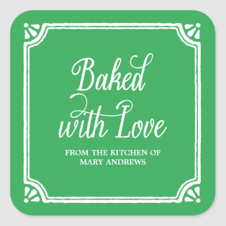 Rustic Baking | Holiday Baked Goods Stickers