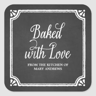Rustic Baking Holiday Baked Goods Stickers