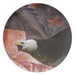 Rustic Bald Eagle Patriotic Custom Dinner Plate Dinner Plate