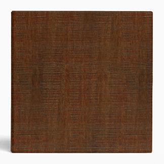 Rustic Bamboo Wood Grain Texture Look 3 Ring Binder