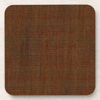 Rustic Bamboo Wood Grain Texture Look Beverage Coaster