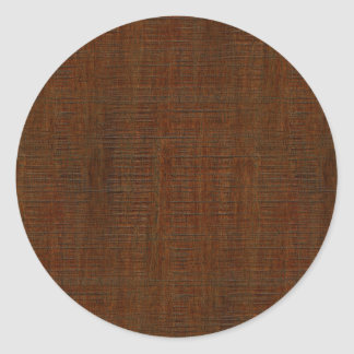 Rustic Bamboo Wood Grain Texture Look Classic Round Sticker