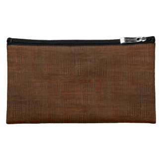 Rustic Bamboo Wood Grain Texture Look Cosmetic Bag