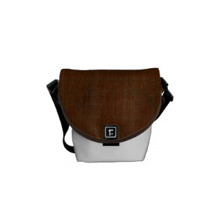 Rustic Bamboo Wood Grain Texture Look Courier Bag