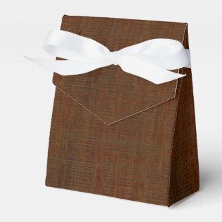 Rustic Bamboo Wood Grain Texture Look Favor Box