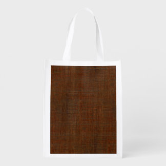 Rustic Bamboo Wood Grain Texture Look Grocery Bag